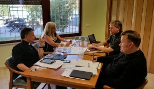 Members of the new Core Team at their first planning meeting in the Royal Scots College, Salamanca